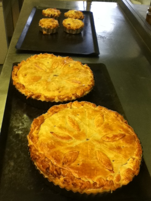 Venison Pie straight out of the oven.........